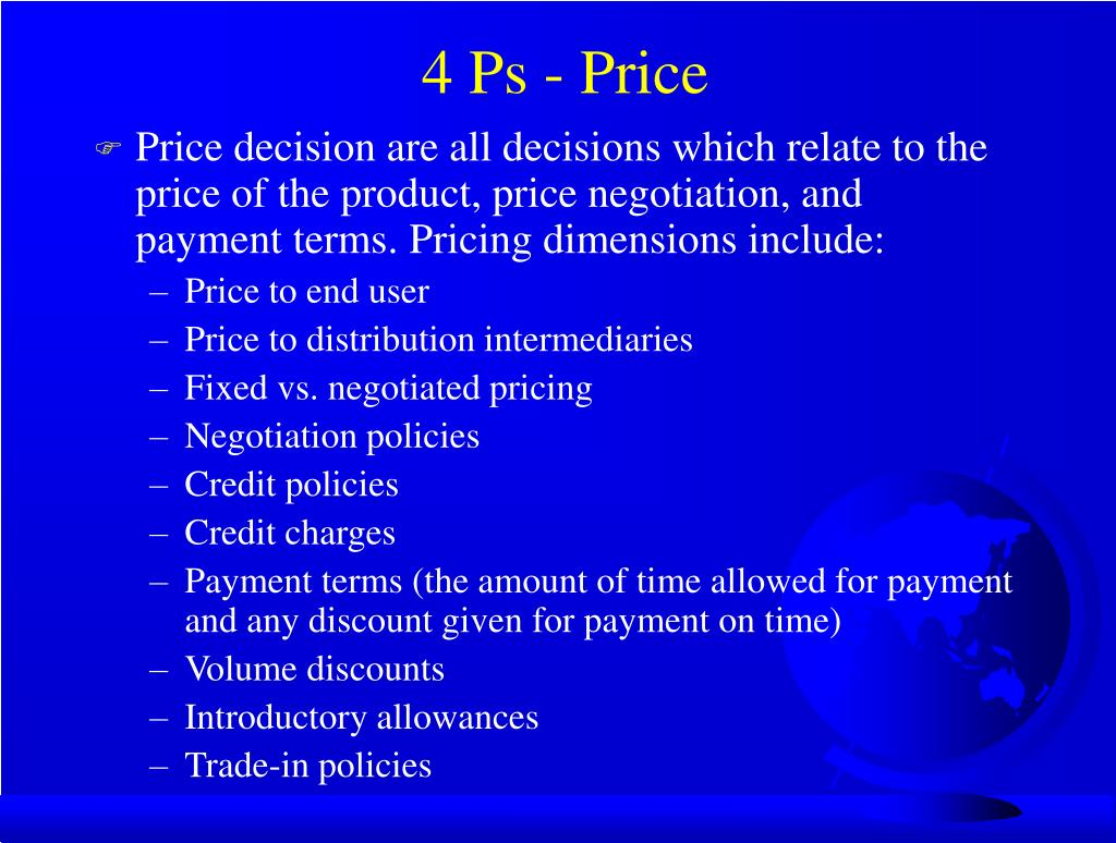4 Ps - Price