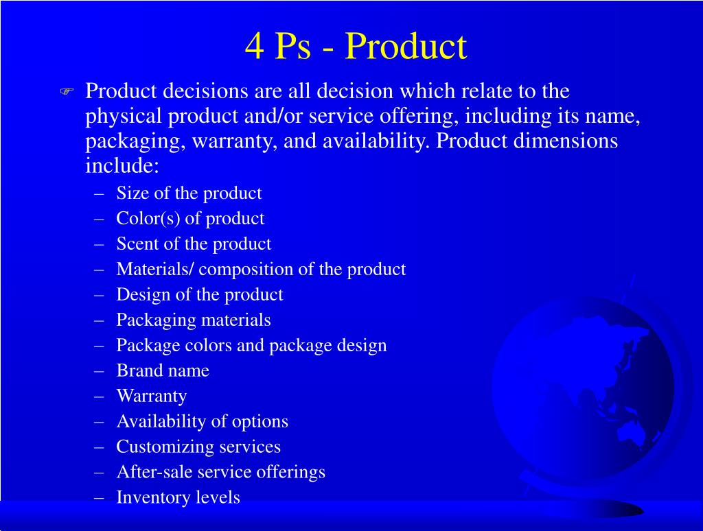 4 Ps - Product