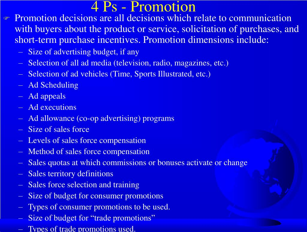 4 Ps - Promotion