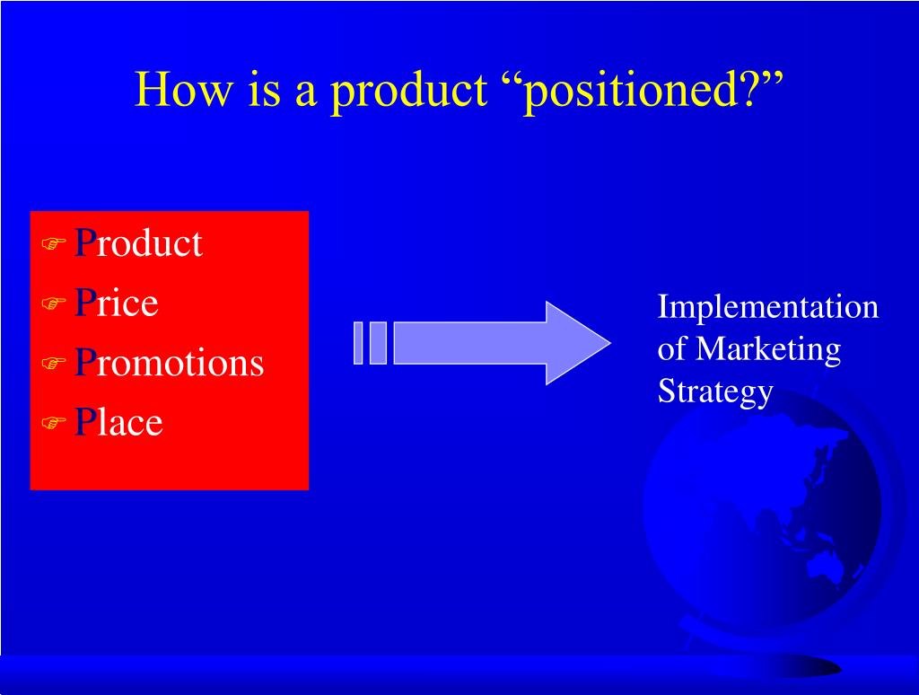 """How is a product """"positioned?"""""""