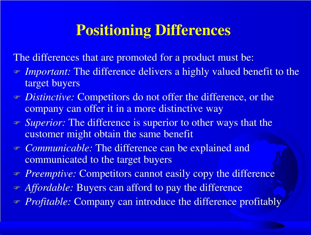 Positioning Differences