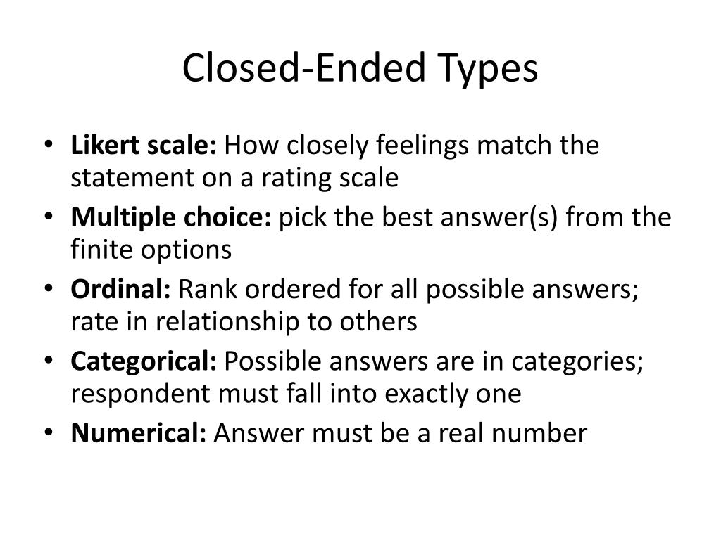 Closed-Ended Types