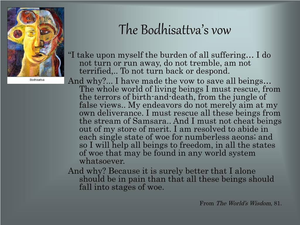 The Bodhisattva's vow