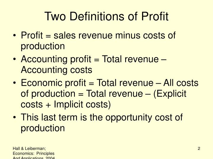 Two definitions of profit l.jpg