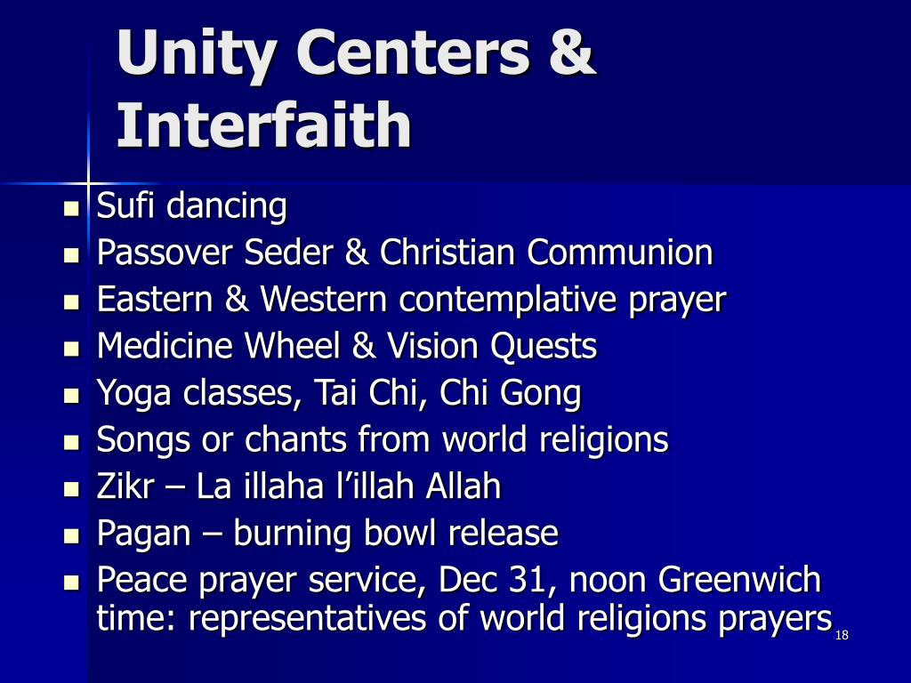 Unity Centers & Interfaith