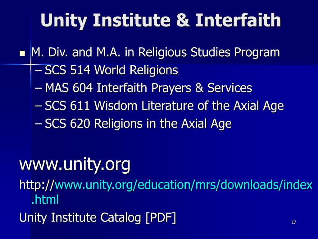 Unity Institute & Interfaith