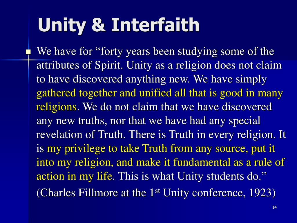 Unity & Interfaith