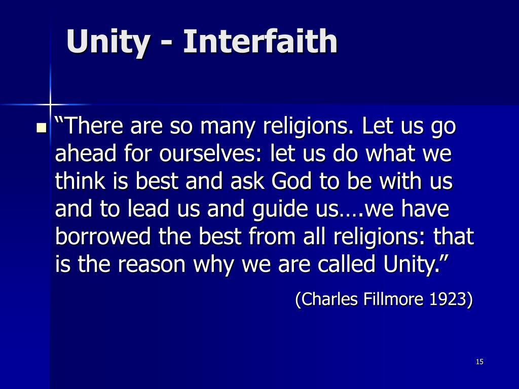 Unity - Interfaith