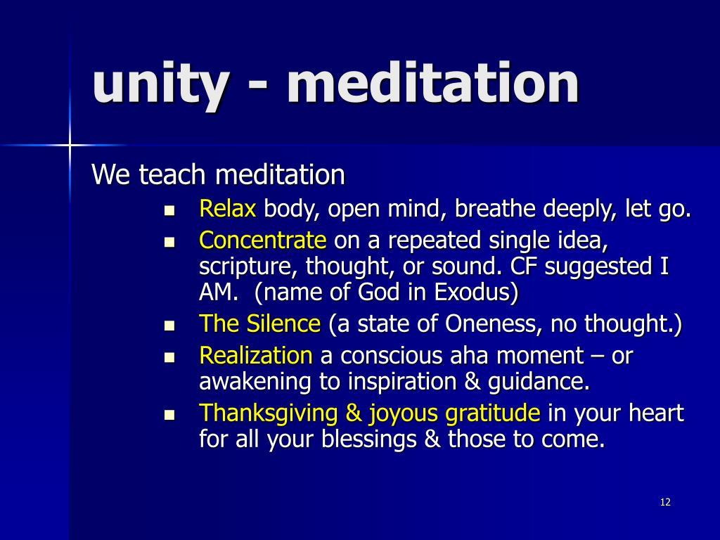 unity - meditation