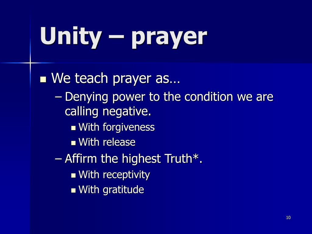 Unity – prayer