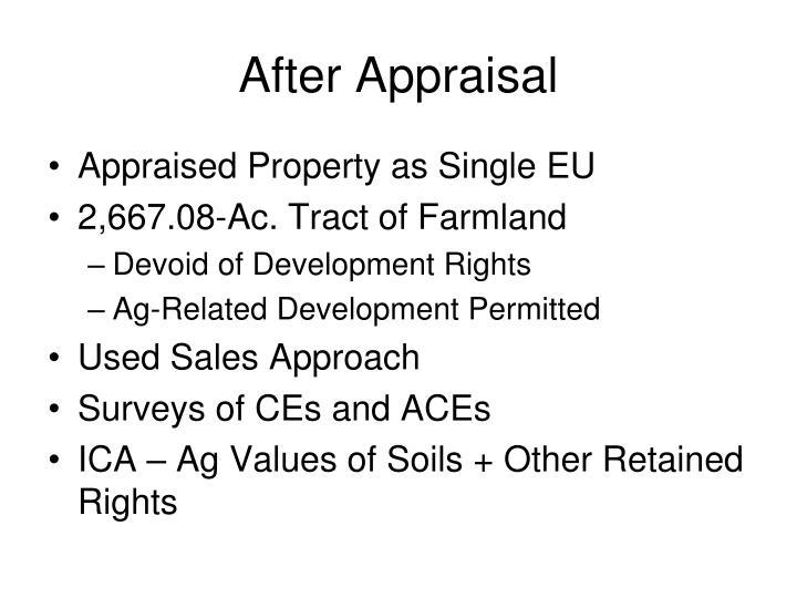 After Appraisal