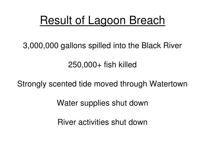 Result of Lagoon Breach
