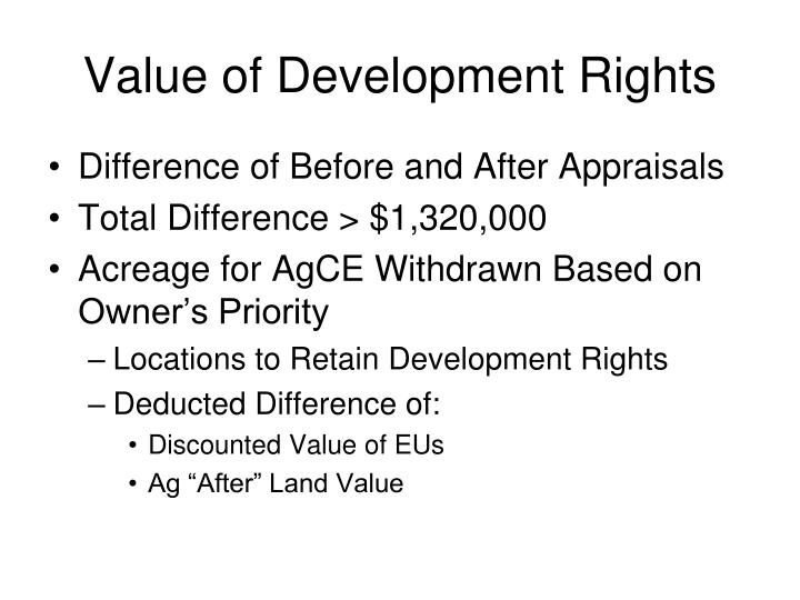 Value of Development Rights