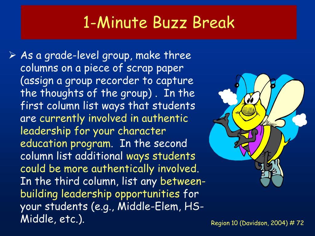 1-Minute Buzz Break