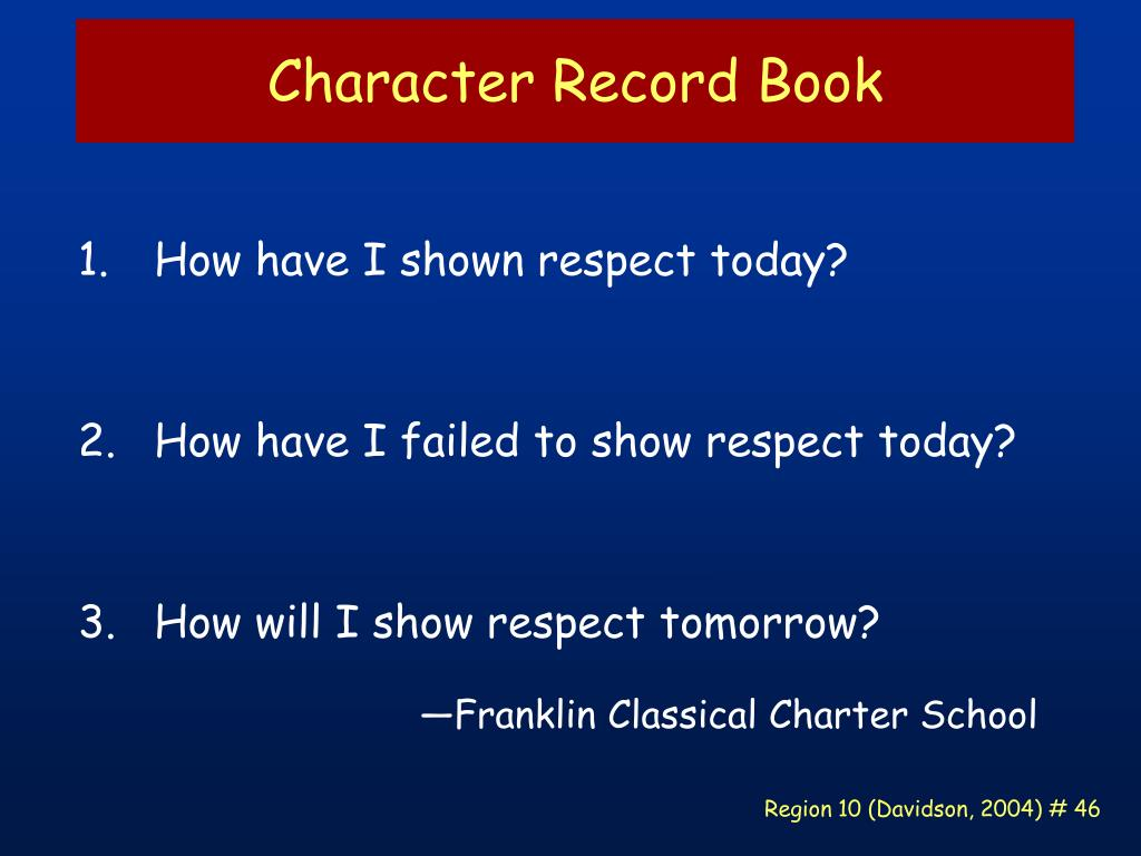 Character Record Book