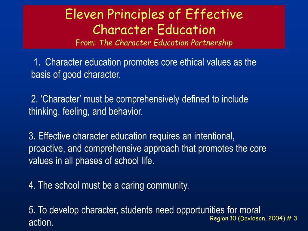 Eleven Principles of Effective