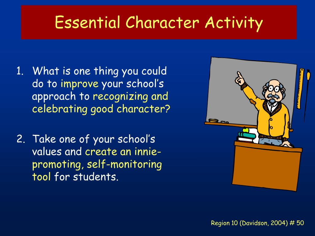 Essential Character Activity