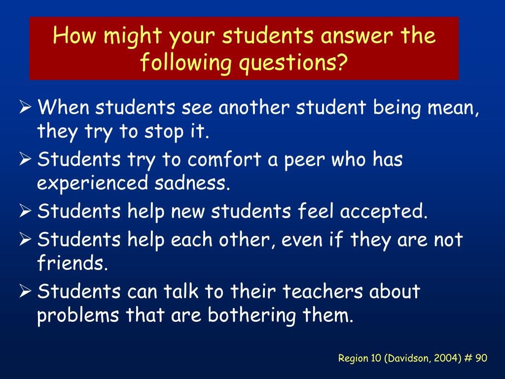 How might your students answer the following questions?