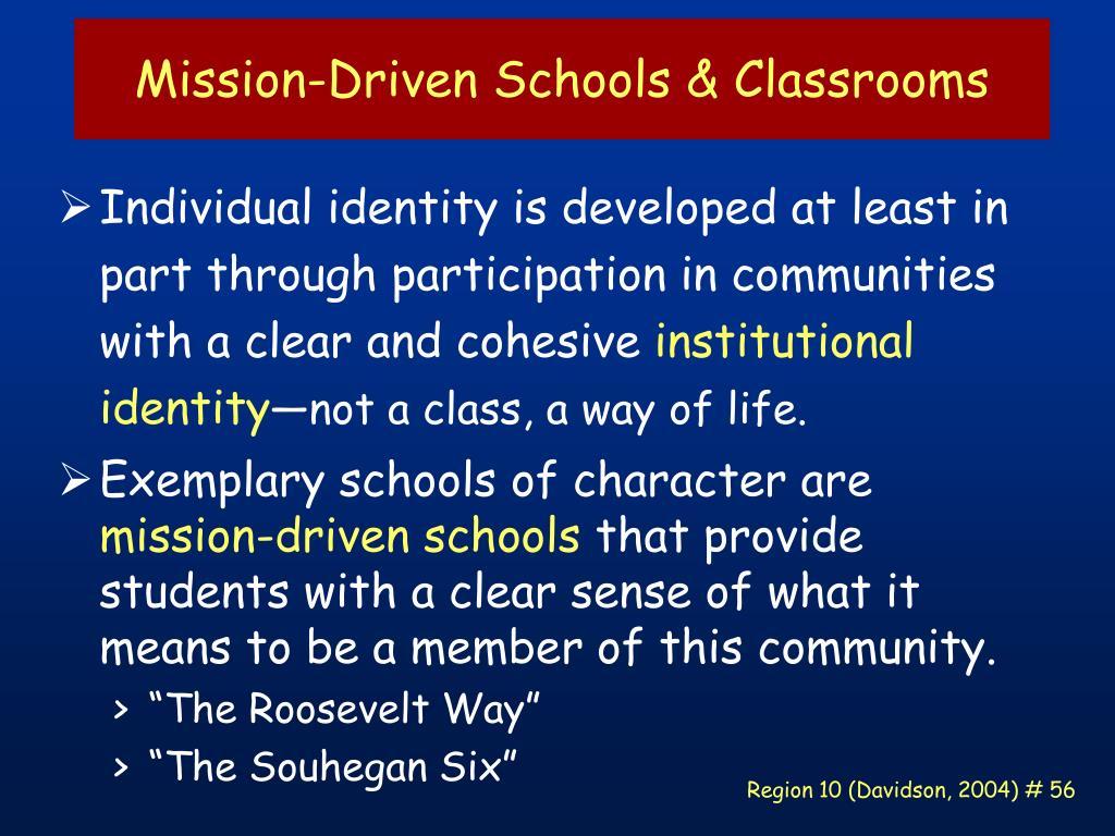 Mission-Driven Schools & Classrooms