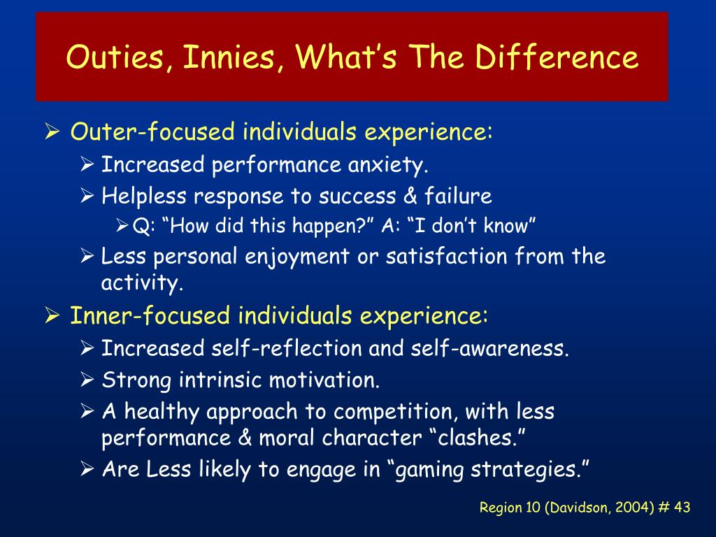 Outies, Innies, What's The Difference