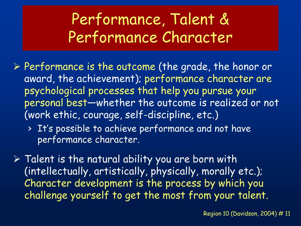 Performance, Talent &