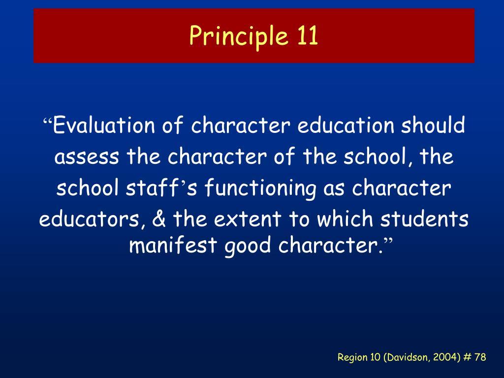 Principle 11