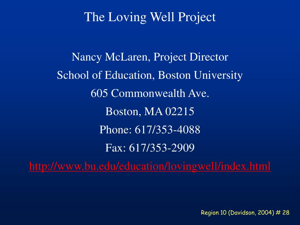 The Loving Well Project