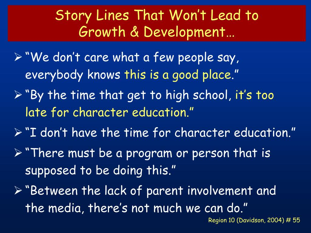 Story Lines That Won't Lead to