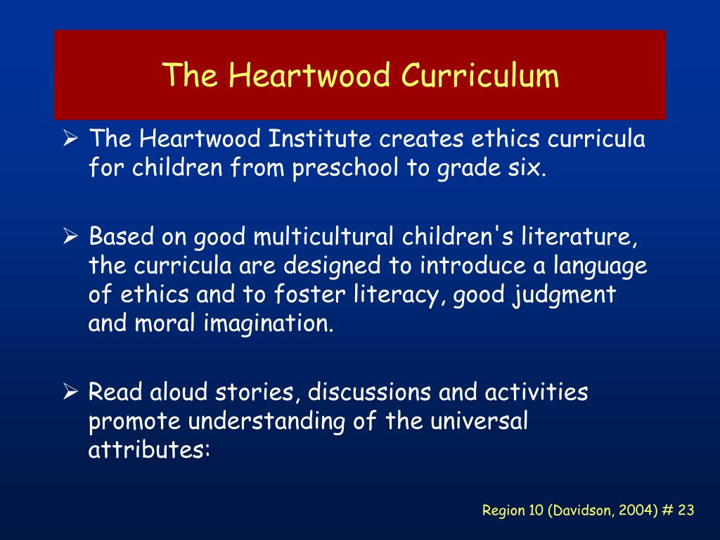 The Heartwood Curriculum
