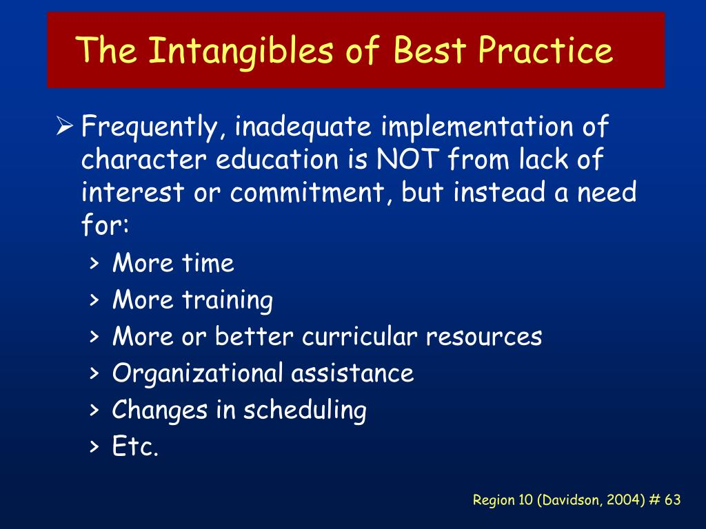 The Intangibles of Best Practice