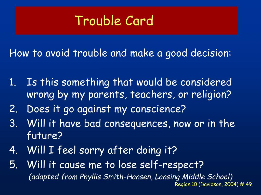 Trouble Card