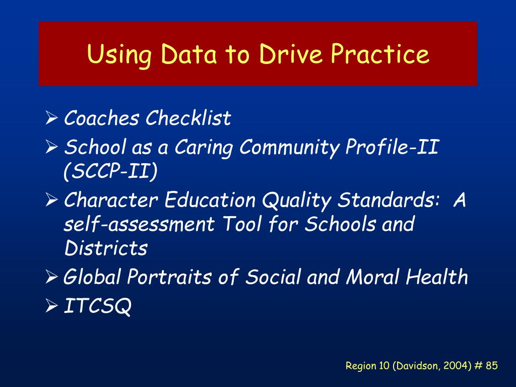 Using Data to Drive Practice