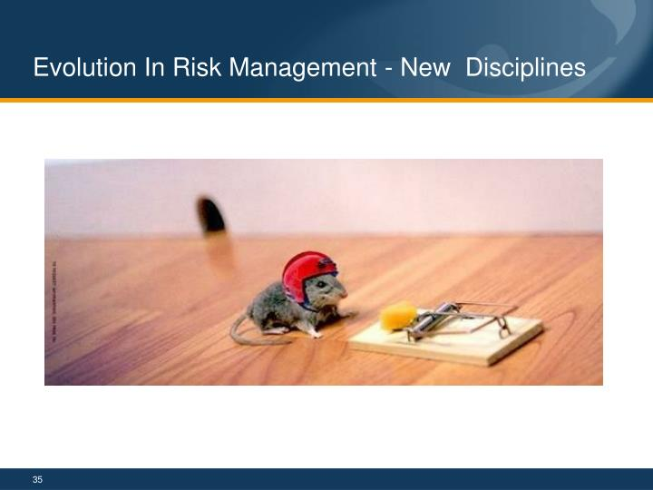 Evolution In Risk Management - New  Disciplines