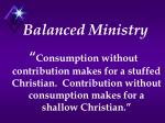 balanced ministry