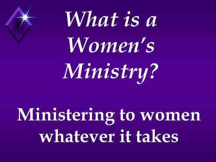 What is a Women's Ministry?