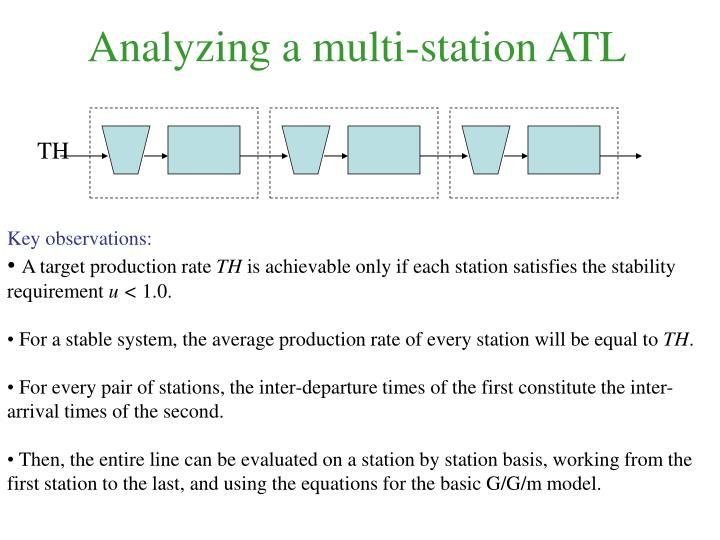 Analyzing a multi-station ATL