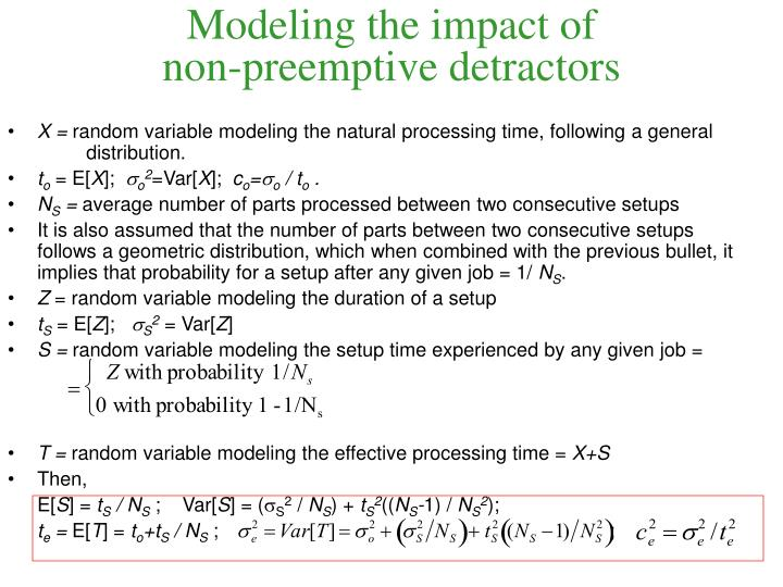 Modeling the impact of