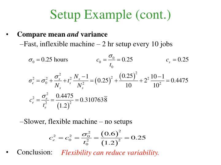 Setup Example (cont.)