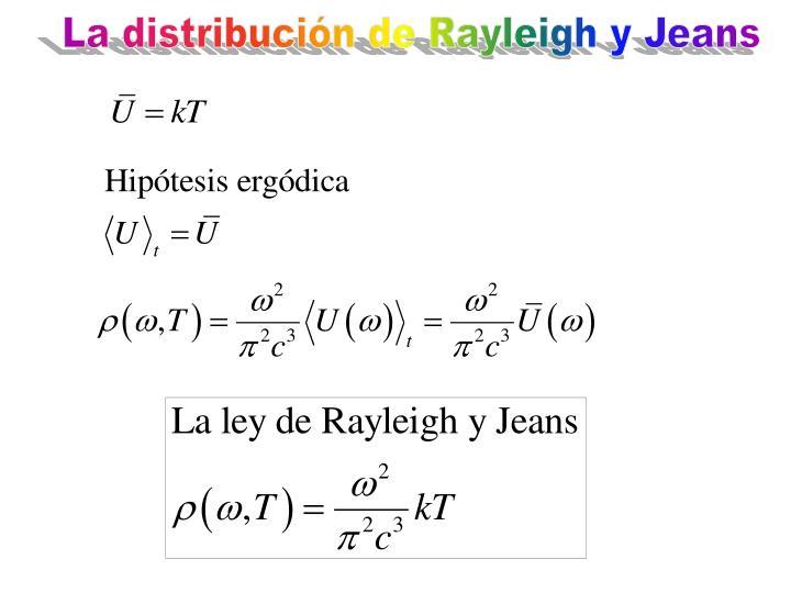 La distribución de Rayleigh y Jeans