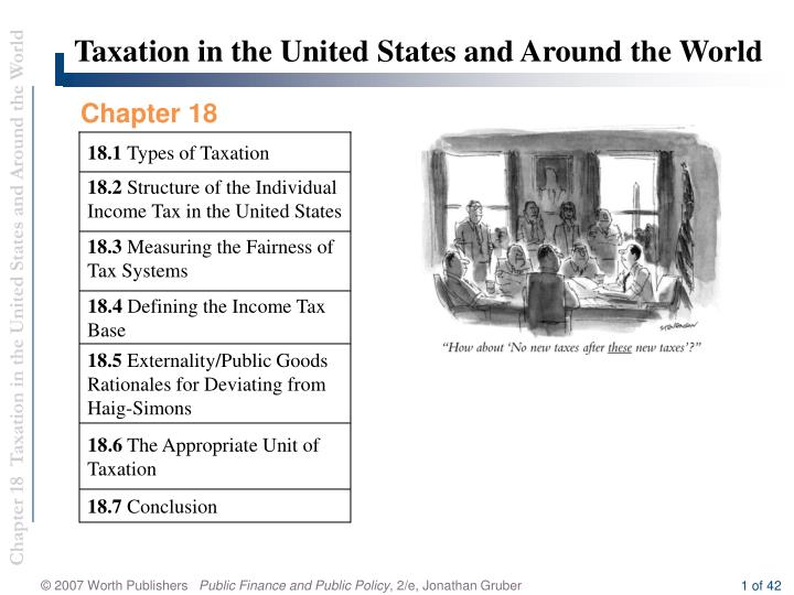 Taxation in the United States and Around the World