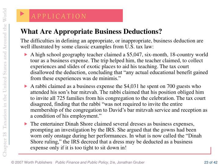 What Are Appropriate Business Deductions?
