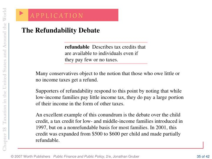 The Refundability Debate