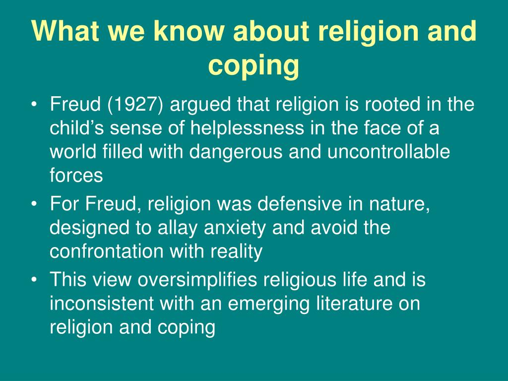 What we know about religion and coping