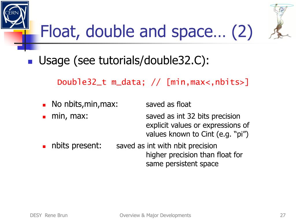 Float, double and space… (2)