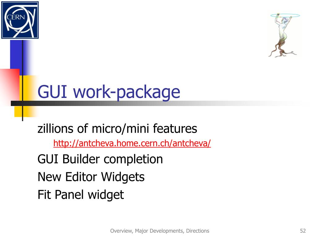 GUI work-package