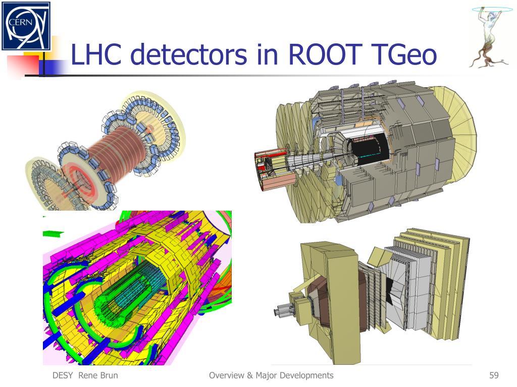 LHC detectors in ROOT TGeo