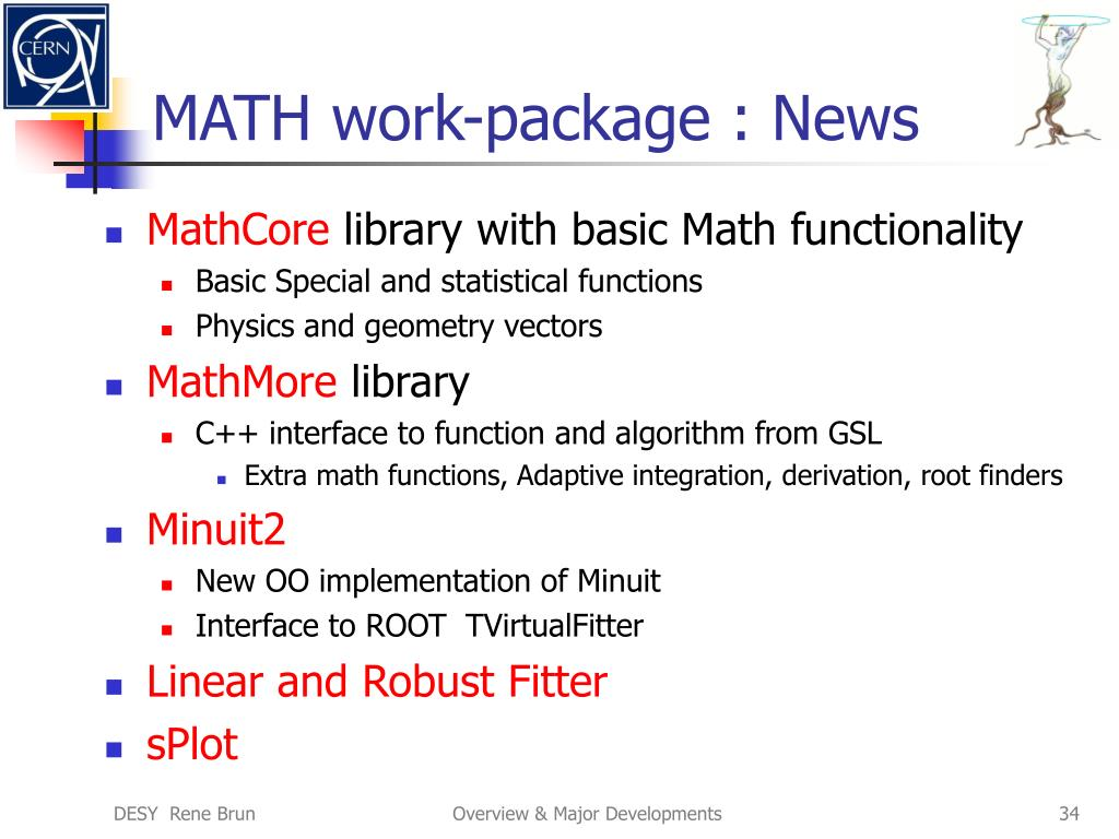 MATH work-package : News