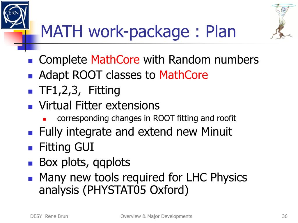 MATH work-package : Plan
