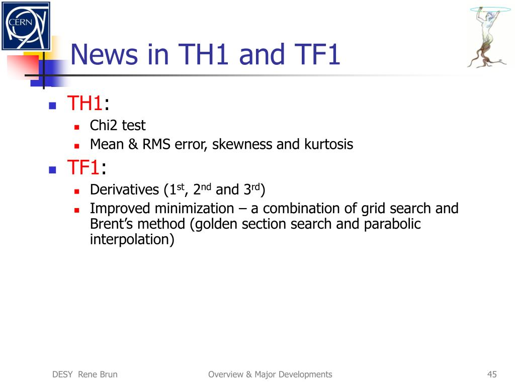 News in TH1 and TF1