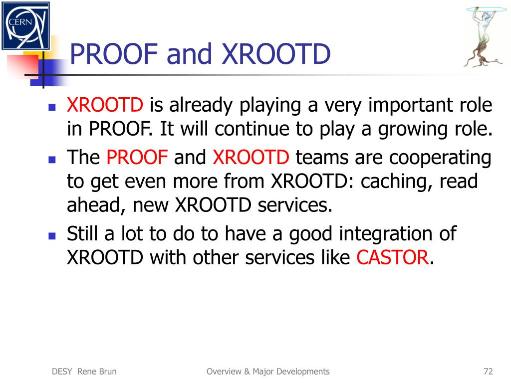 PROOF and XROOTD